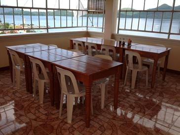 divine castle hotel coron_breakfast area