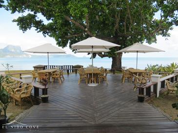 el nido cove resort_view deck