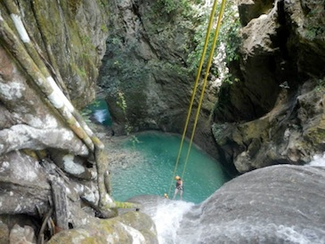 cebu adventure tour - tison falls cebu